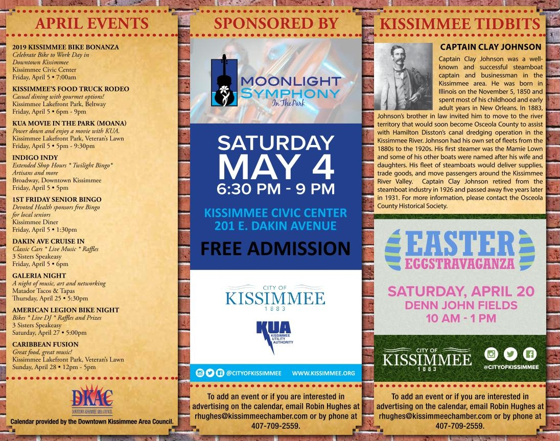 April Downtown Kissimmee Calendar Published