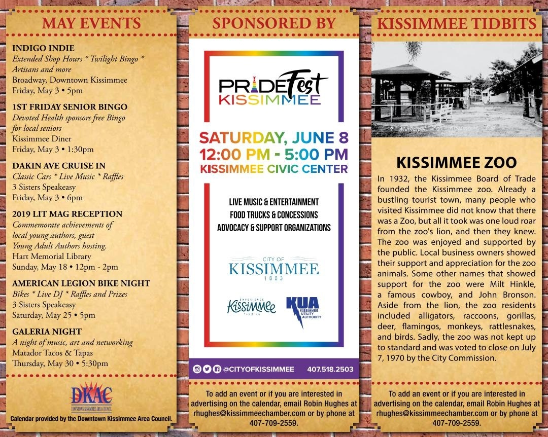 May Downtown Kissimmee Calendar Published