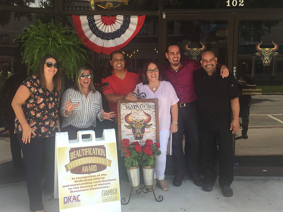 The DKAC Awards the Downtown Beautification Award to a downtown business