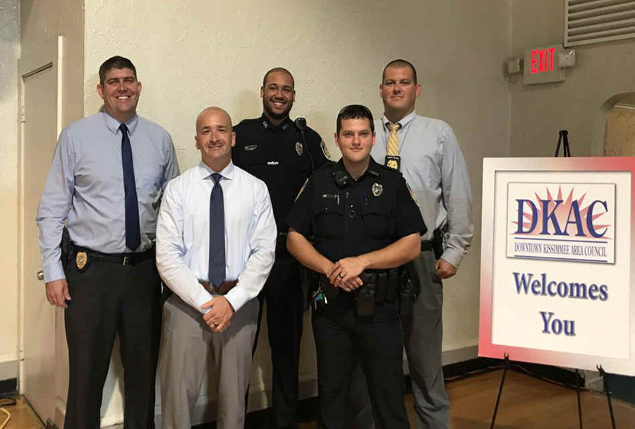 The DKAC Honors Kissimmee Police Department officers with Back the Blue Awards
