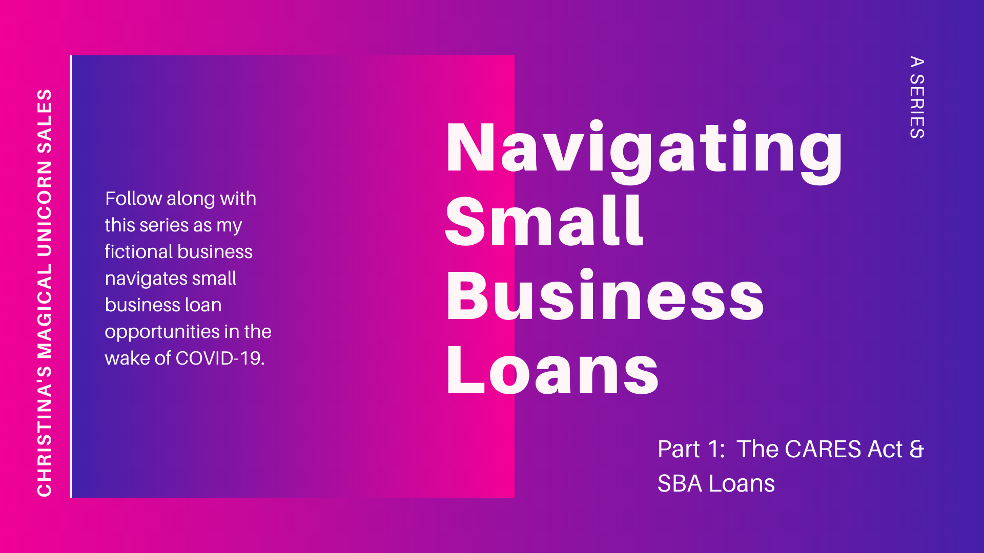 Navigating Small Business Loans, A Series