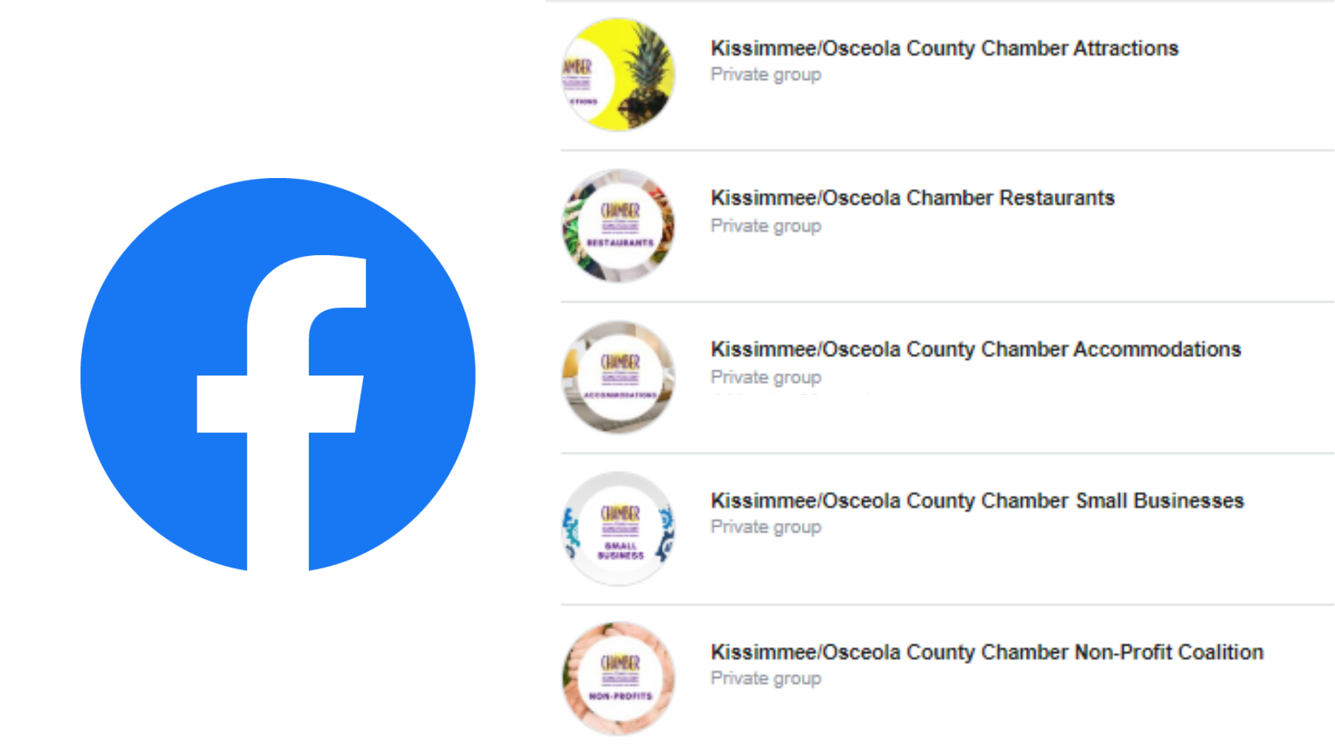 Kissimmee/Osceola Chamber Creates Industry-Specific Closed Facebook Groups