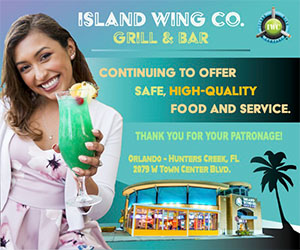 Island Wing Co. Grill and Bar Ad