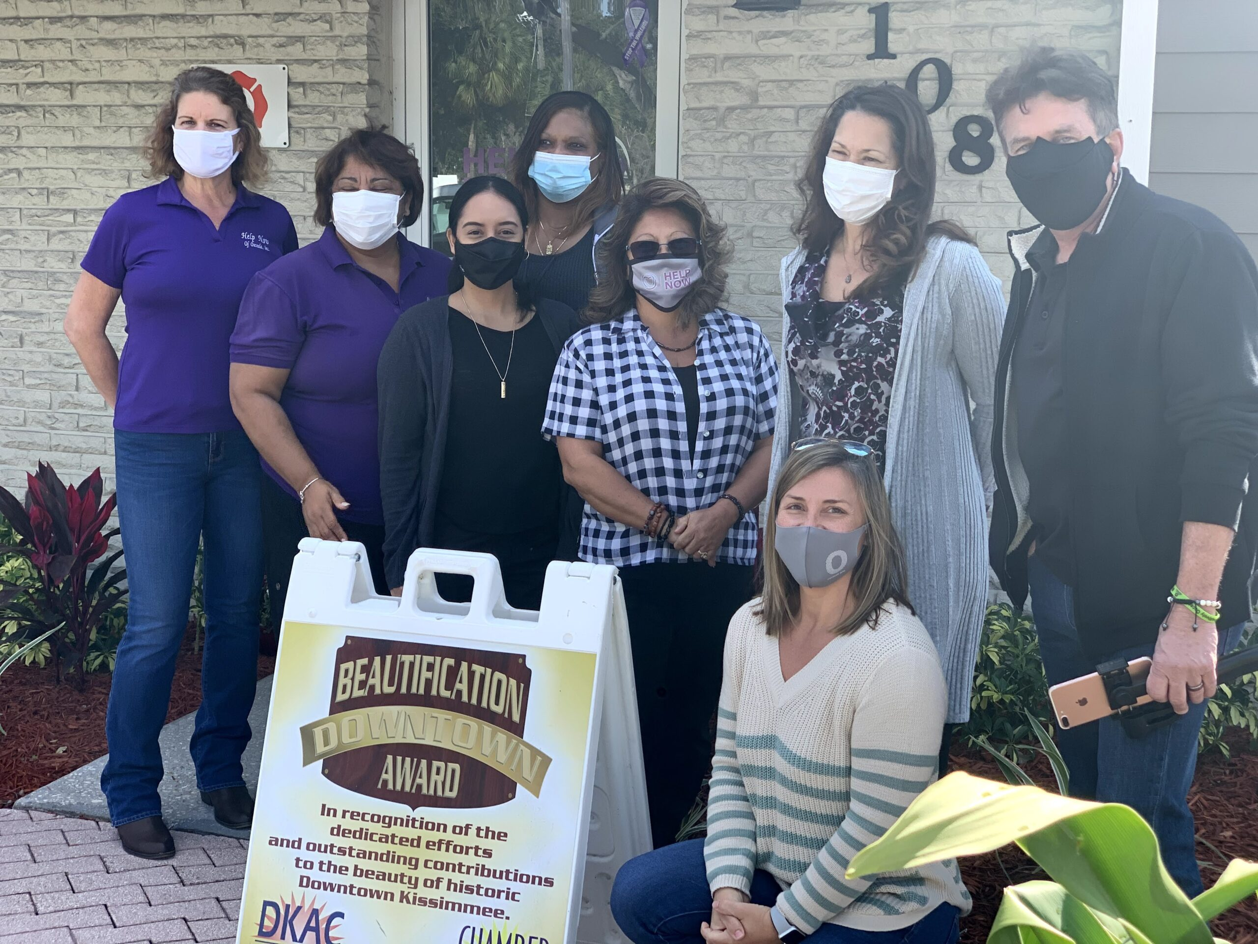 DKAC Honors Help Now Of Osceola With January/February Downtown Beautification Award