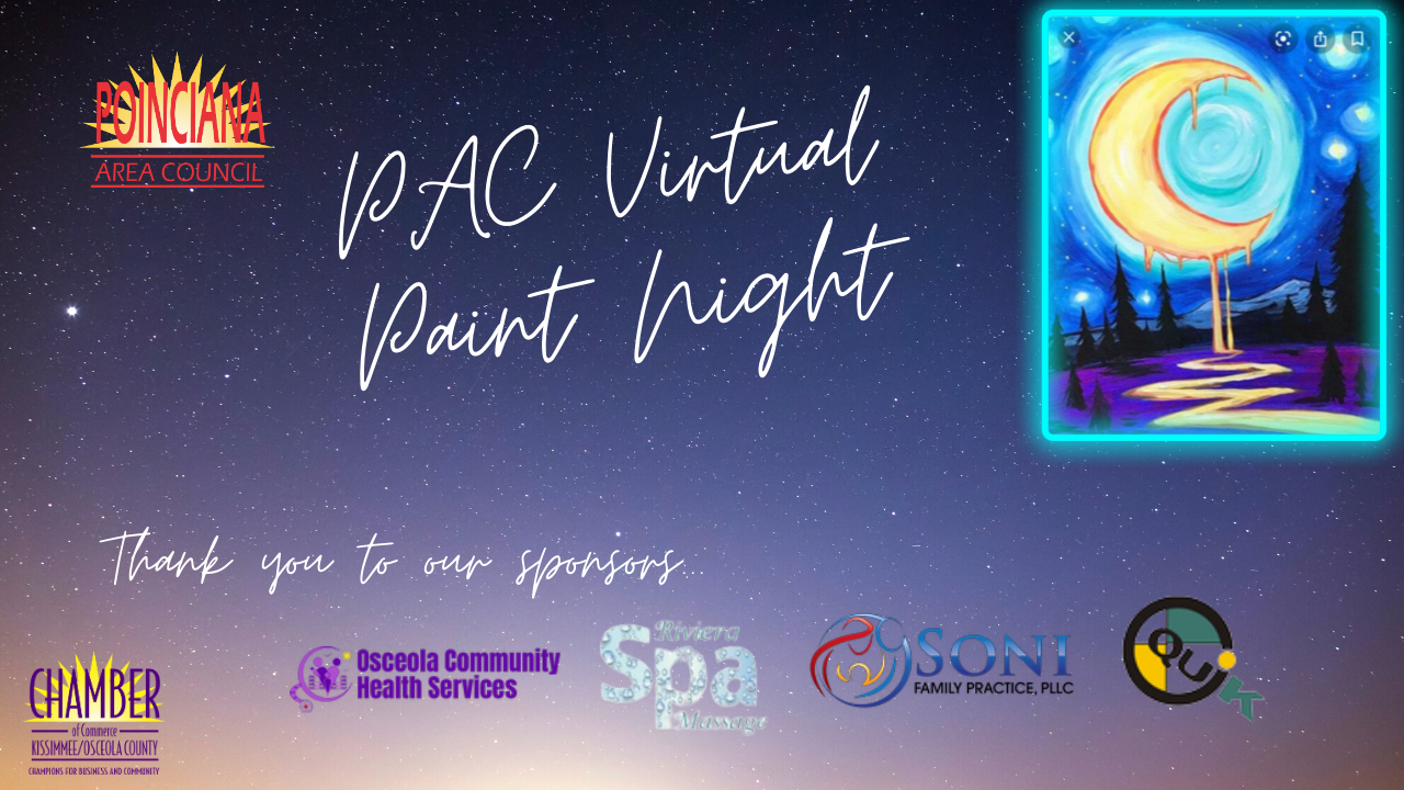 PAC Paints:  Poinciana Area Council Raises Funds For Scholarship Program With Virtual Paint Night