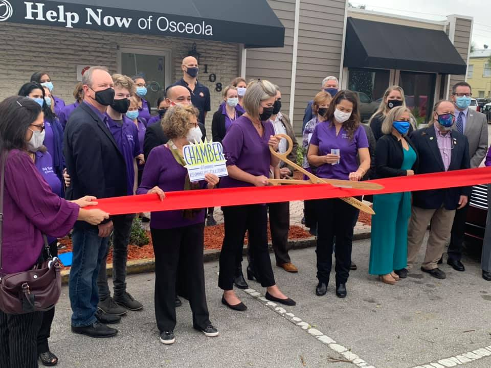 Ribbon Cutting Of Help Now Office In Kissimmee